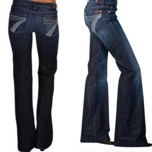 7 For All Mankind Dojo Flop Flop Flare Jeans